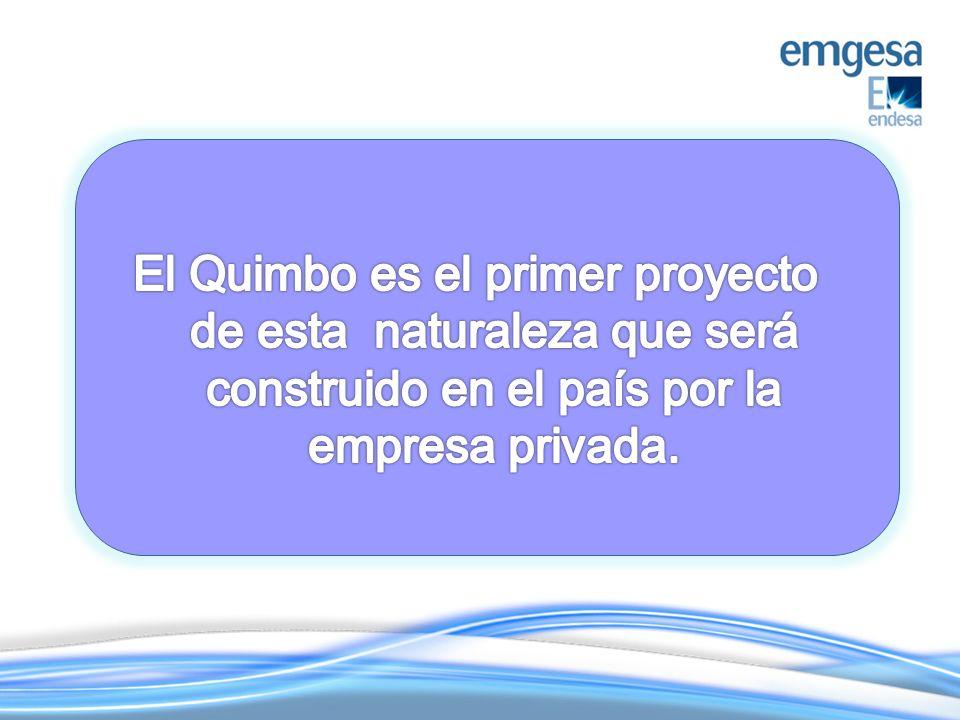 El Quimbo es el primer proyecto de esta naturaleza que será construido en el país por la empresa privada.