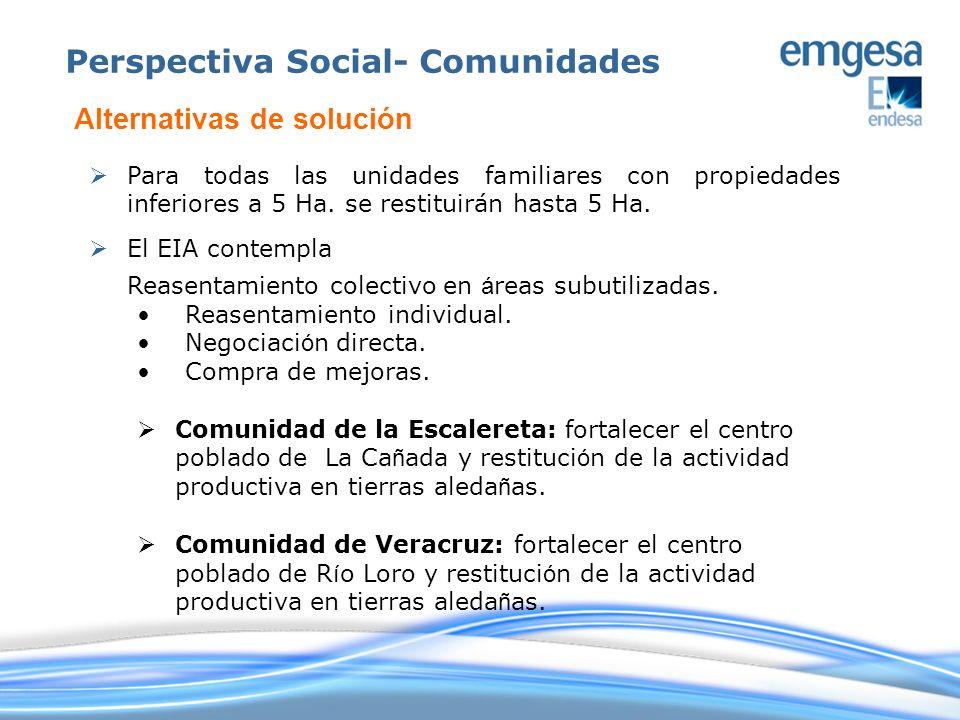Perspectiva Social- Comunidades
