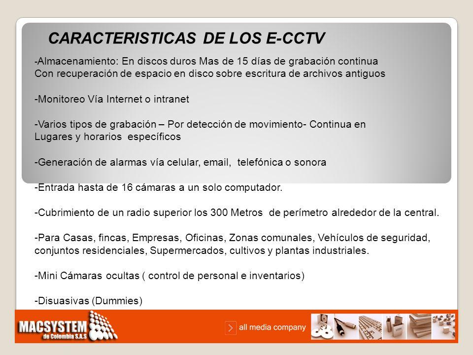 CARACTERISTICAS DE LOS E-CCTV