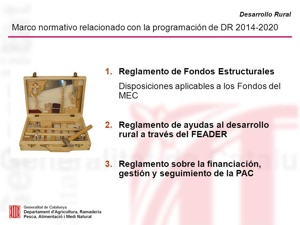 Marco normativo relacionado con la programación de DR 2014-2020