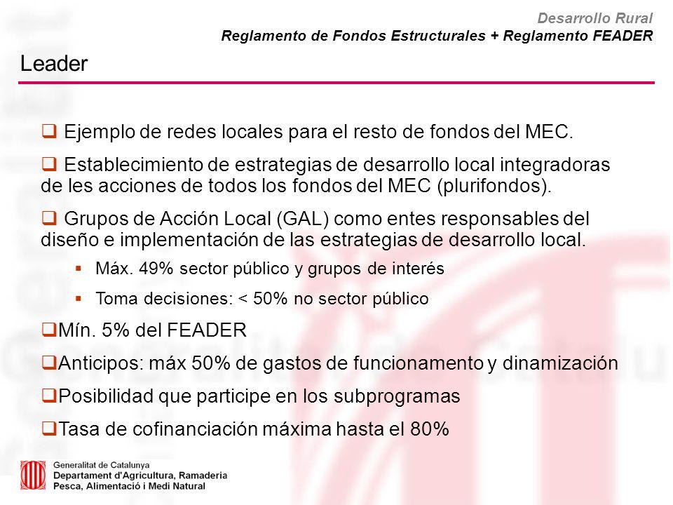 Leader Ejemplo de redes locales para el resto de fondos del MEC.