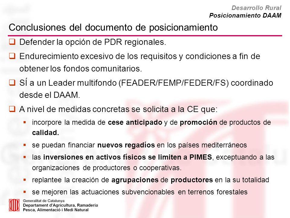 Conclusiones del documento de posicionamiento