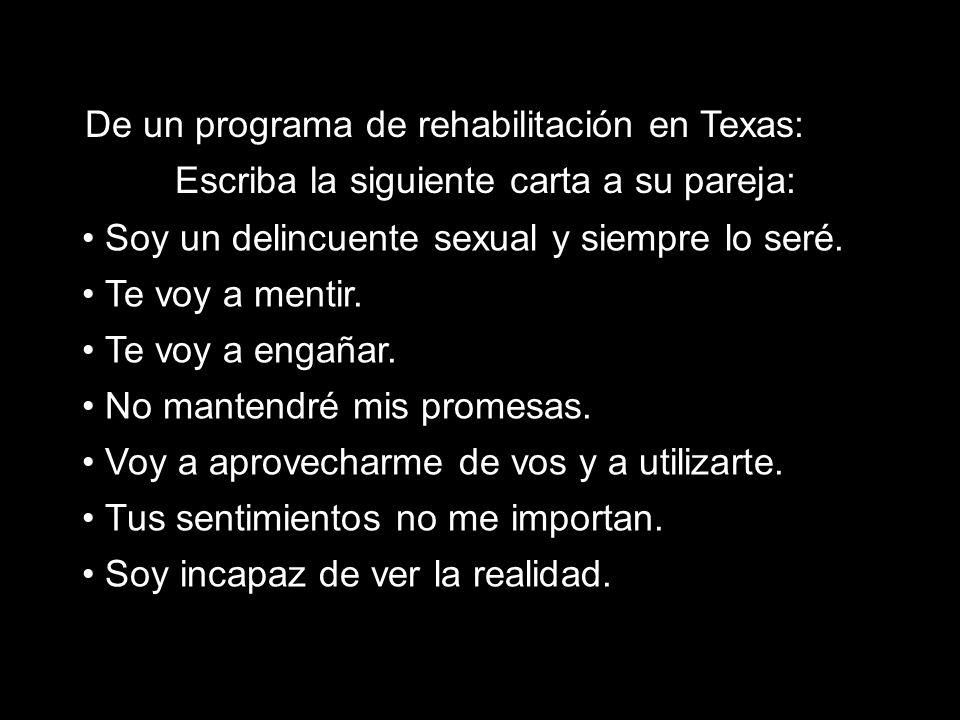De un programa de rehabilitación en Texas: