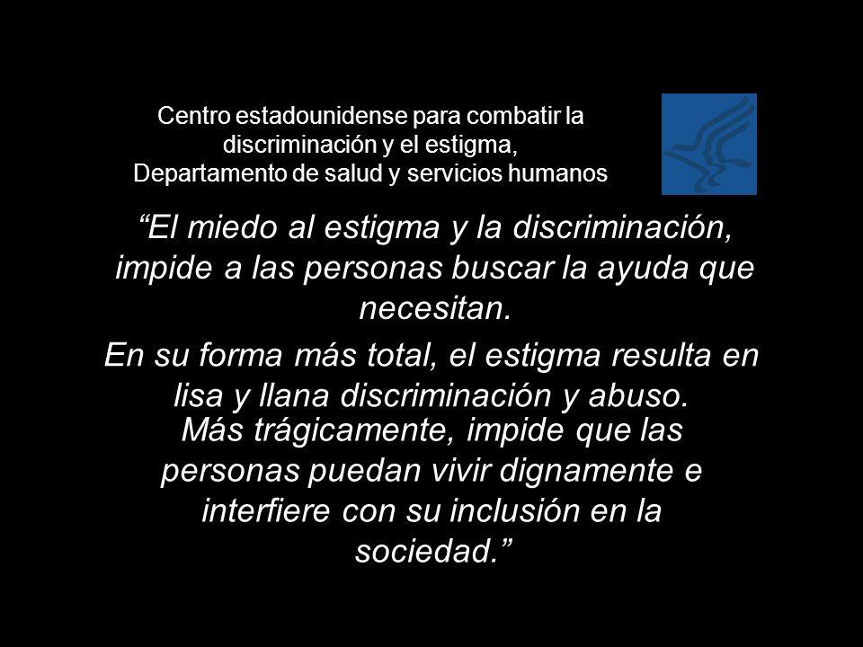 Centro estadounidense para combatir la discriminación y el estigma, Departamento de salud y servicios humanos
