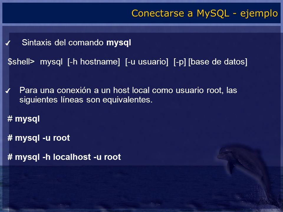 Conectarse a MySQL - ejemplo