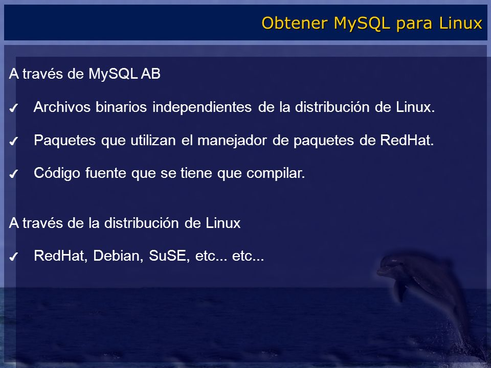 Obtener MySQL para Linux
