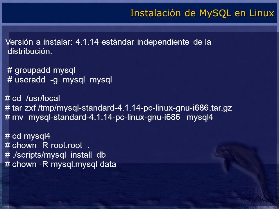Instalación de MySQL en Linux