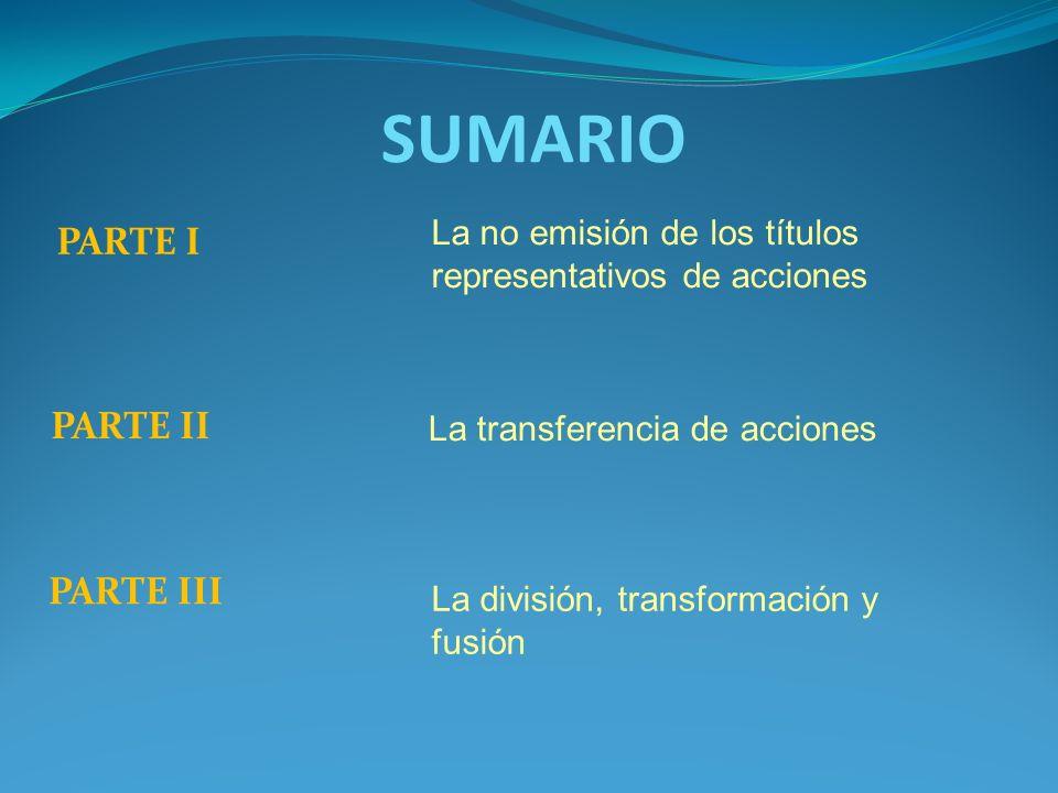 SUMARIO PARTE I PARTE II PARTE III
