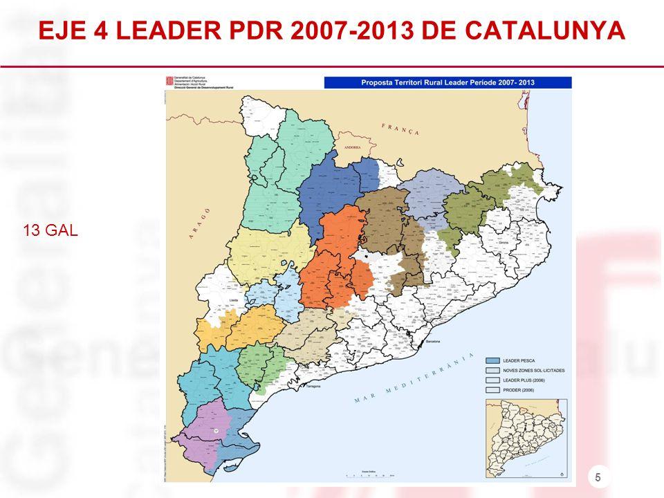 EJE 4 LEADER PDR 2007-2013 DE CATALUNYA