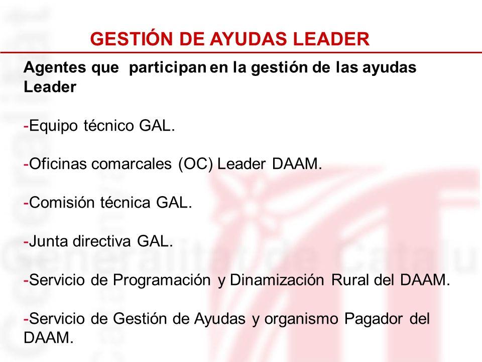 GESTIÓN DE AYUDAS LEADER
