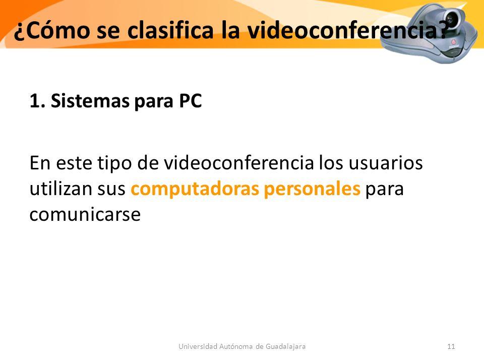 ¿Cómo se clasifica la videoconferencia