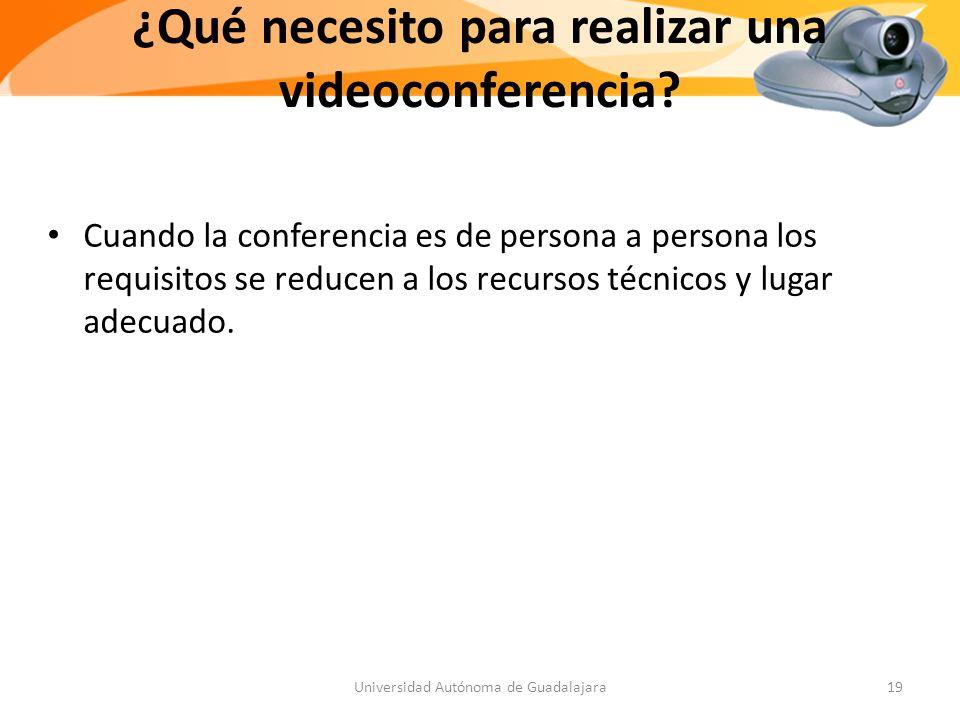 ¿Qué necesito para realizar una videoconferencia