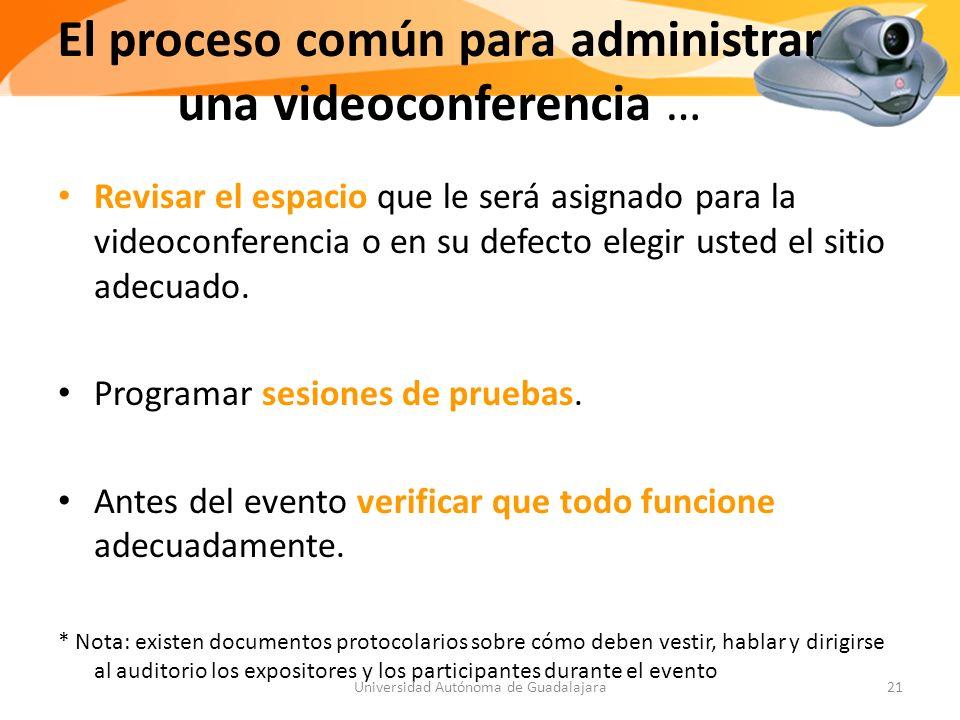 El proceso común para administrar una videoconferencia …