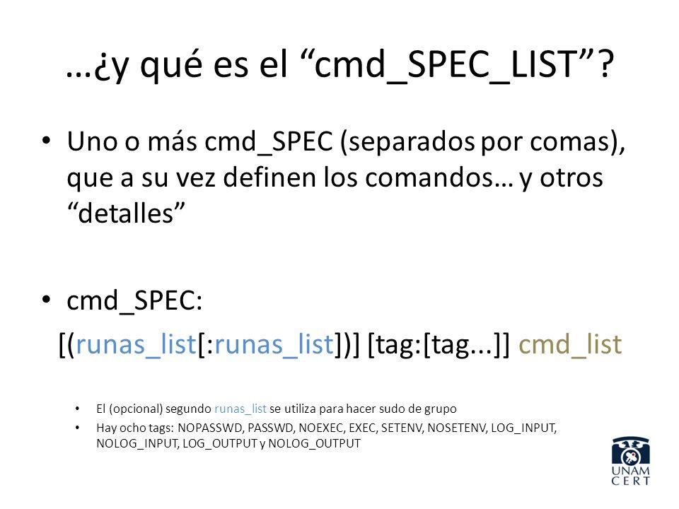 …¿y qué es el cmd_SPEC_LIST
