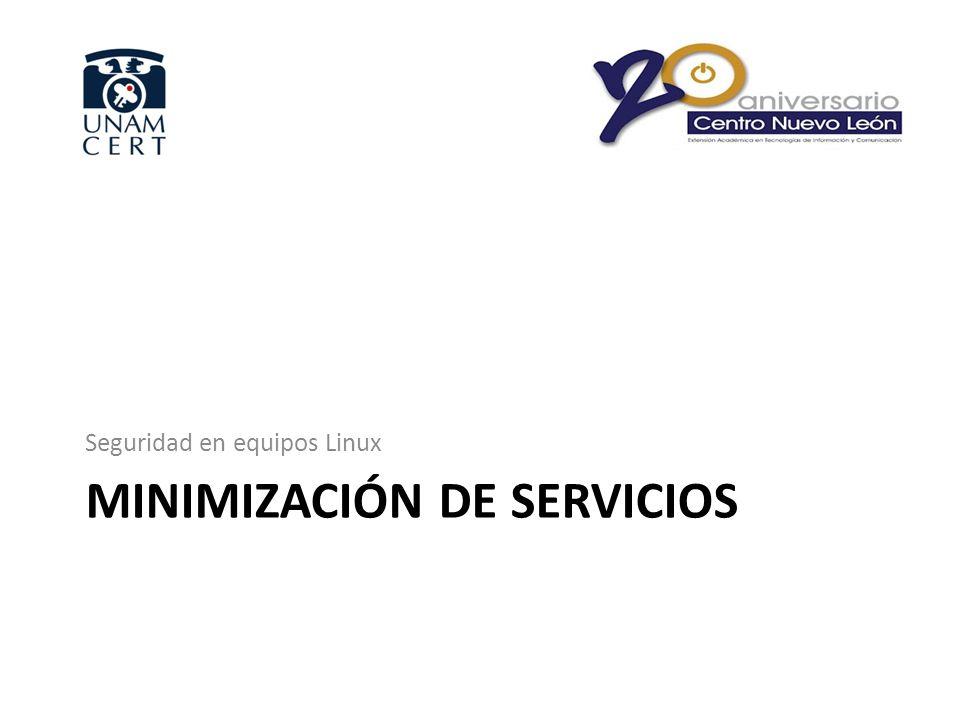 Minimización de servicios