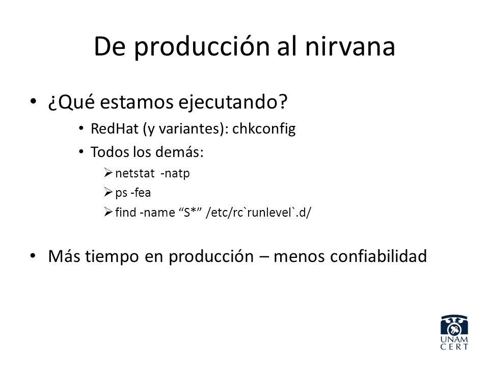 De producción al nirvana