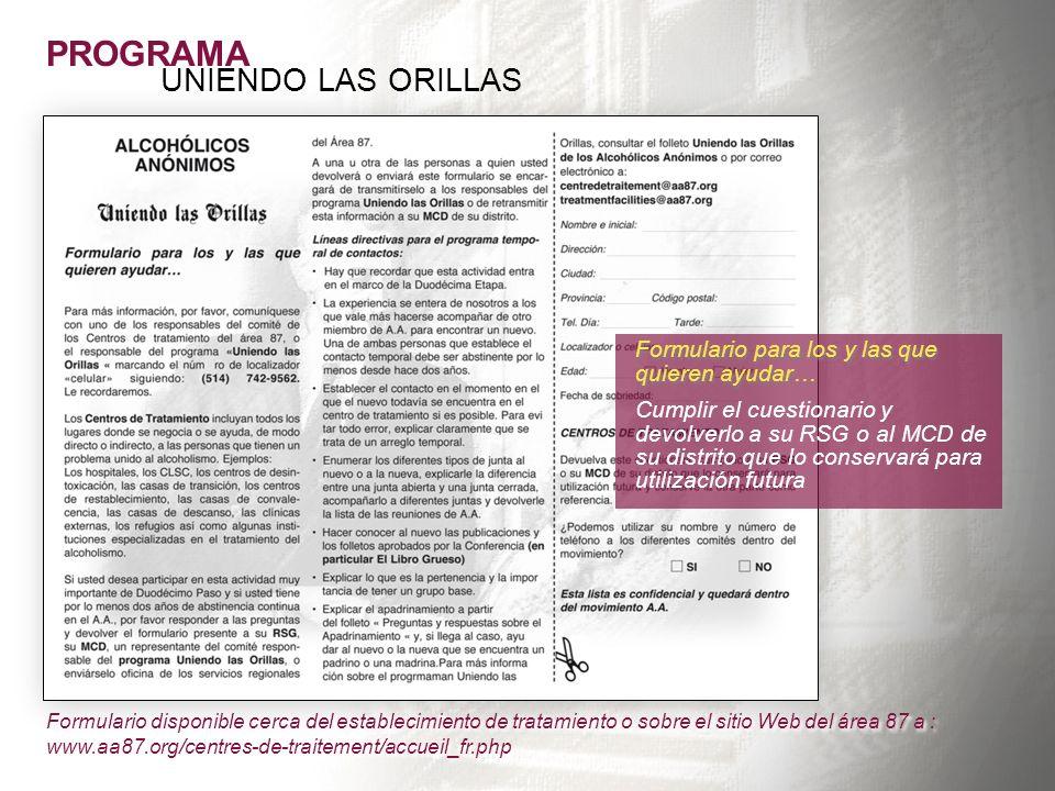 PROGRAMA UNIENDO LAS ORILLAS