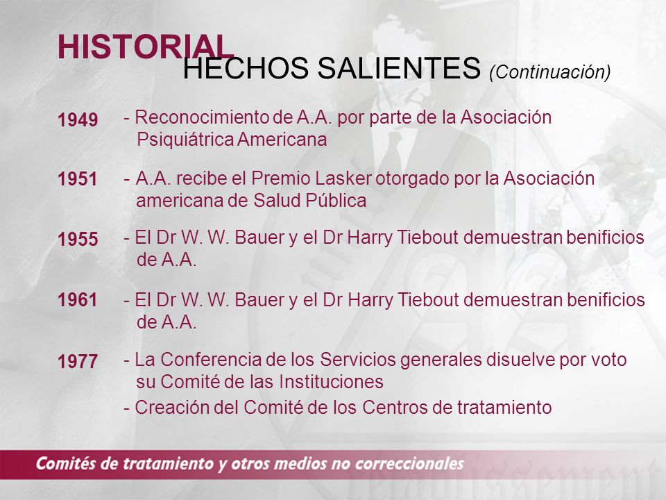HECHOS SALIENTES (Continuación)