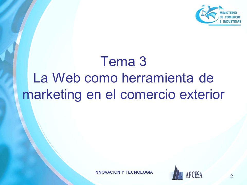Tema 3 La Web como herramienta de marketing en el comercio exterior