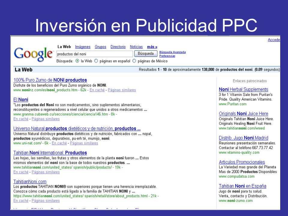 Inversión en Publicidad PPC