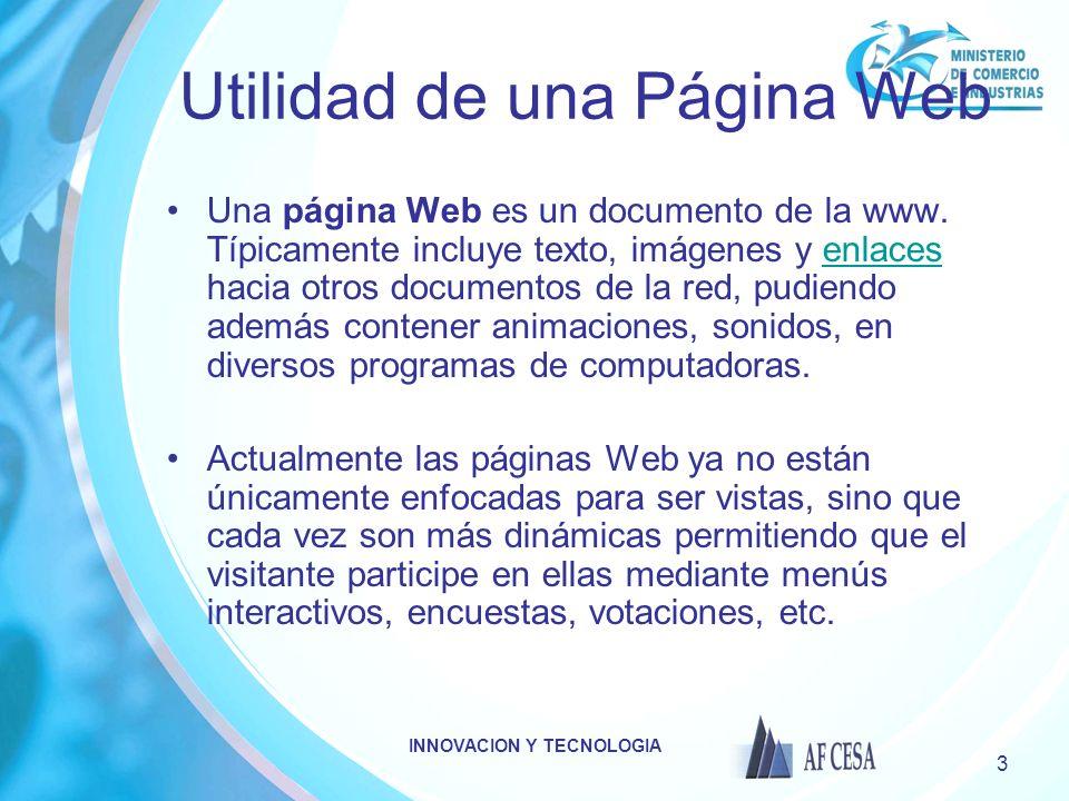 Utilidad de una Página Web