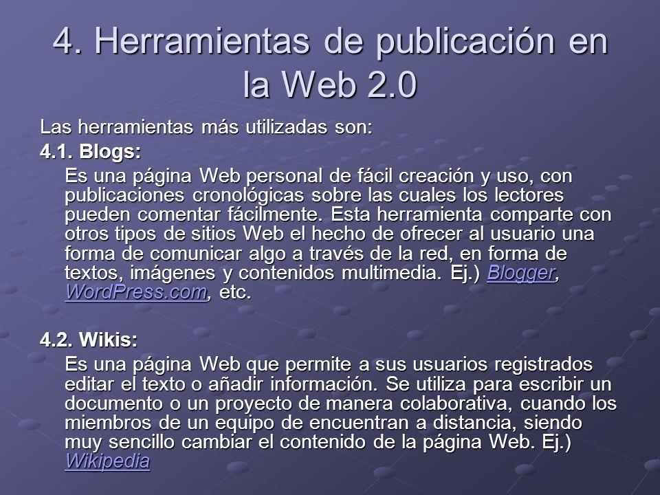 4. Herramientas de publicación en la Web 2.0