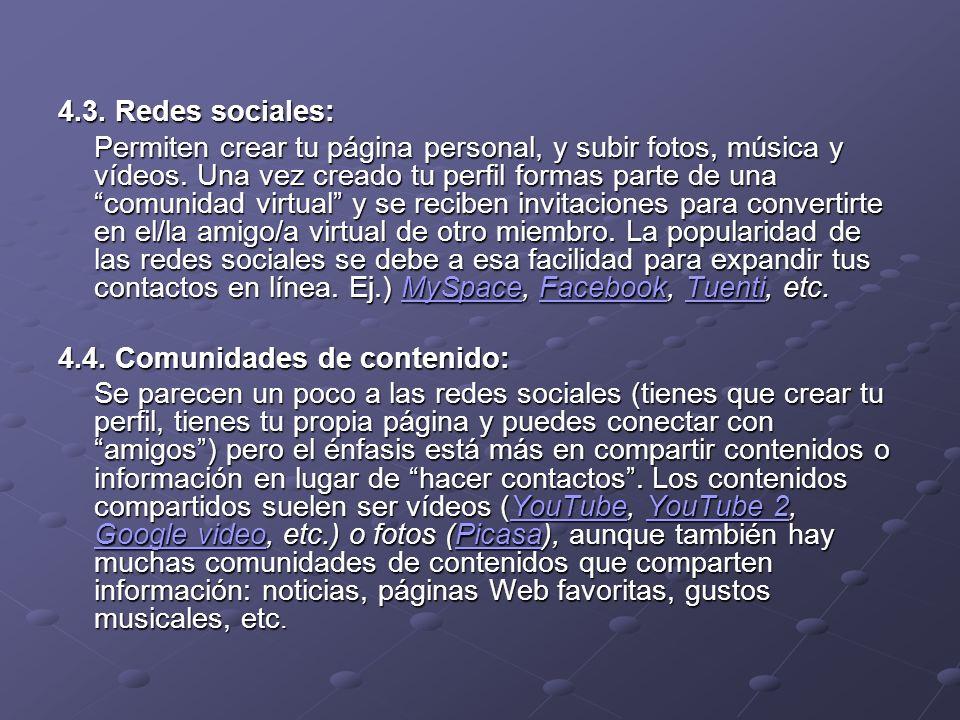 4.3. Redes sociales: