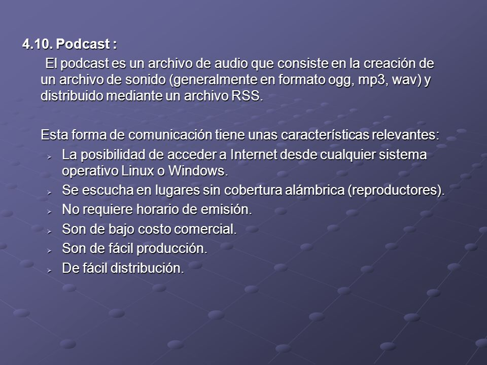 4.10. Podcast :