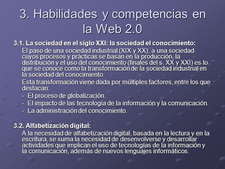 3. Habilidades y competencias en la Web 2.0