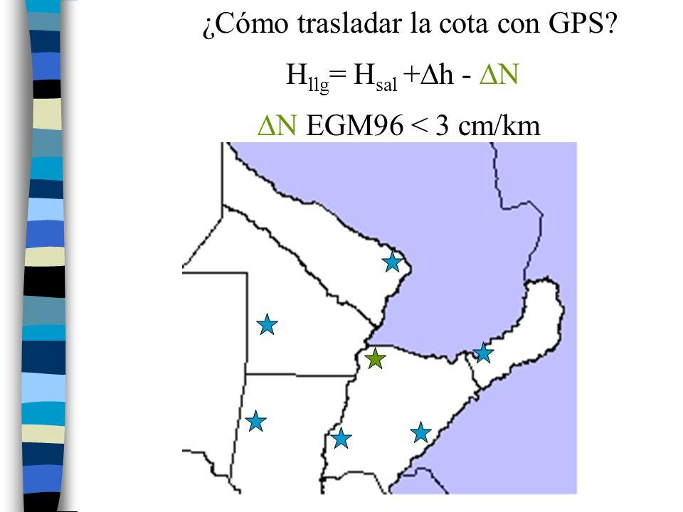 ¿Cómo trasladar la cota con GPS
