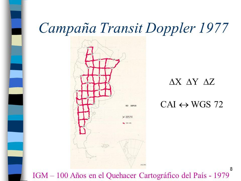 Campaña Transit Doppler 1977