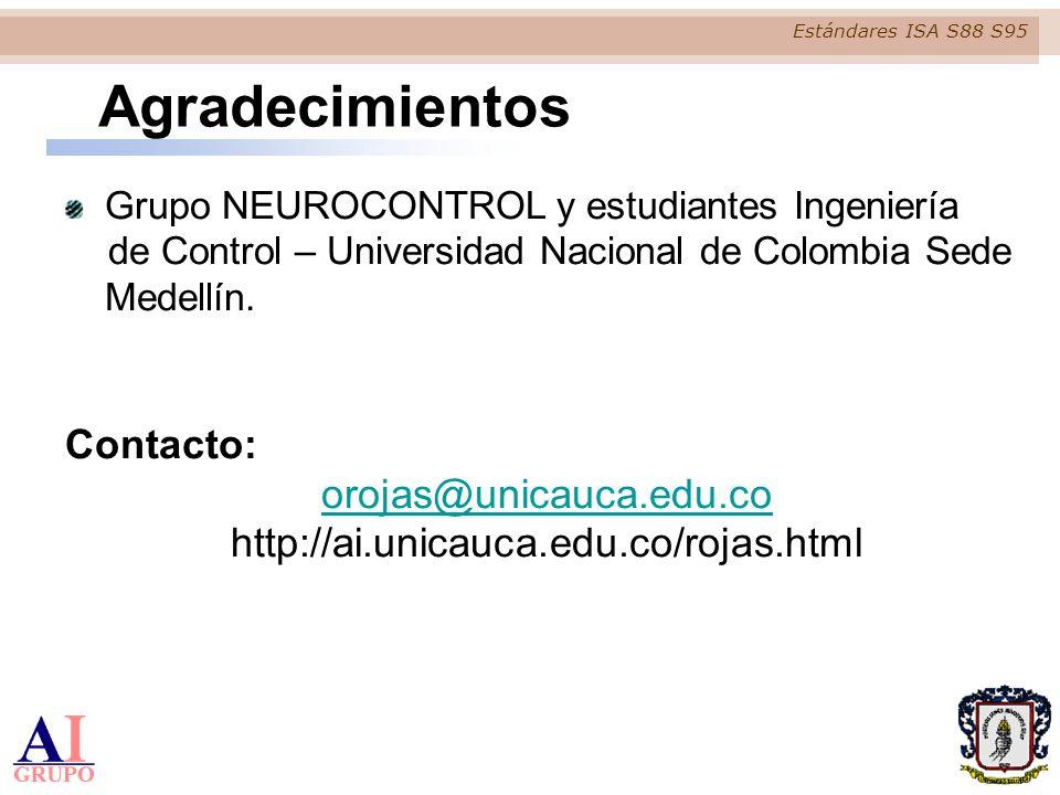 Agradecimientos Contacto: orojas@unicauca.edu.co