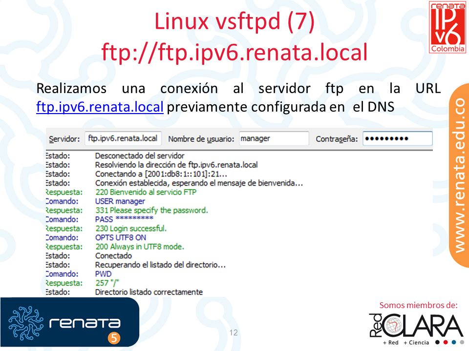 Linux vsftpd (7) ftp://ftp.ipv6.renata.local