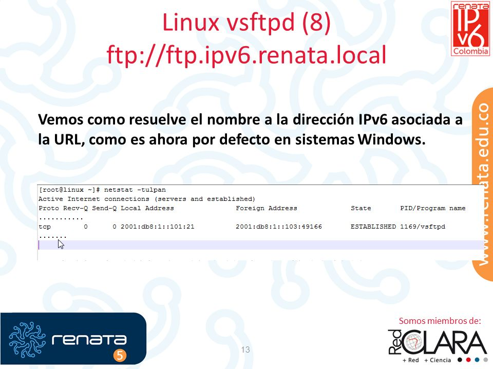 Linux vsftpd (8) ftp://ftp.ipv6.renata.local