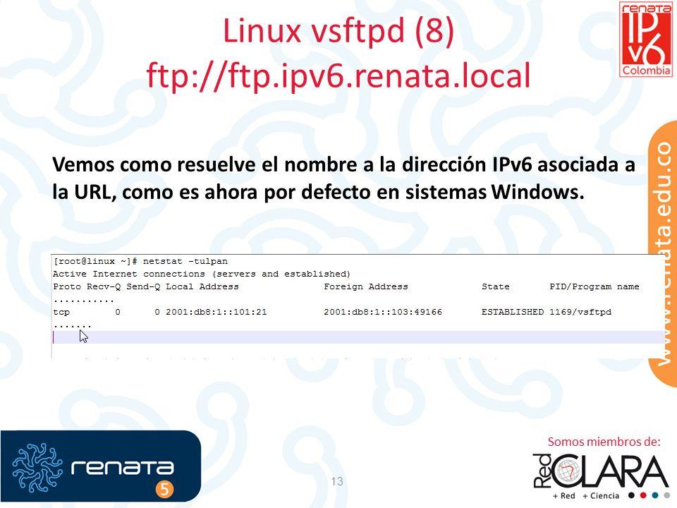 Linux vsftpd (8) ftp://ftp.ipv6.renata.local
