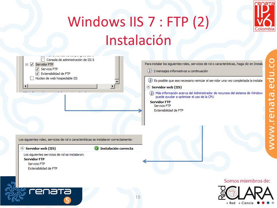 Windows IIS 7 : FTP (2) Instalación
