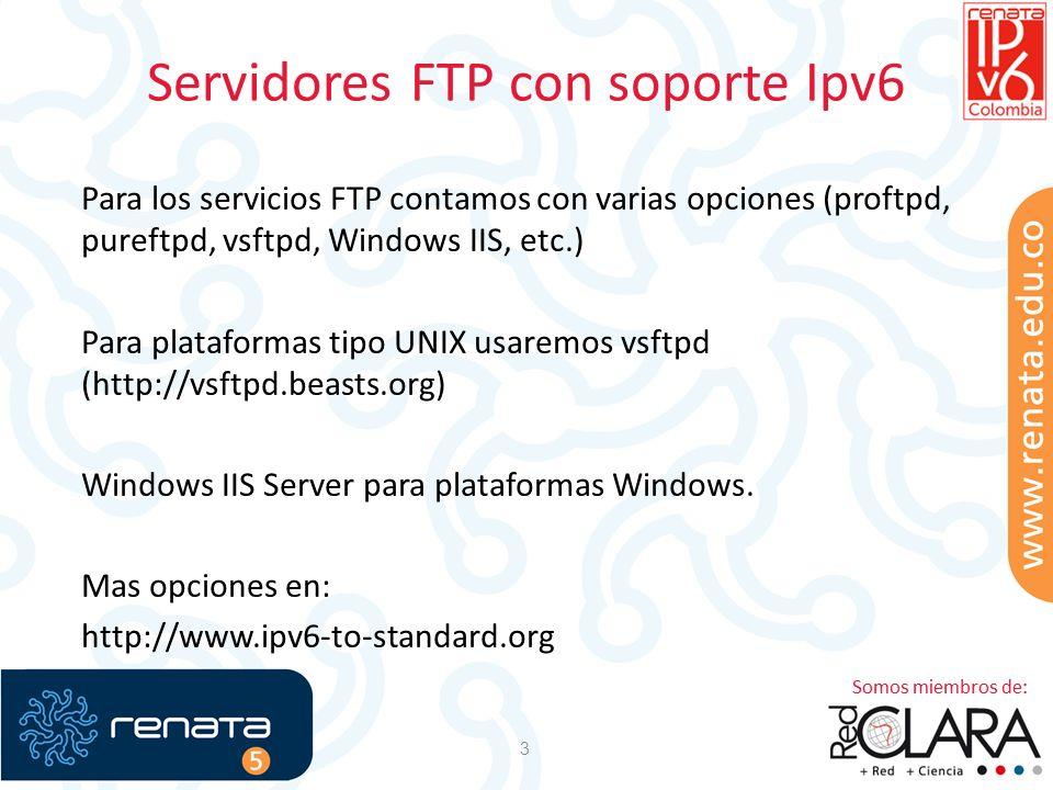 Servidores FTP con soporte Ipv6