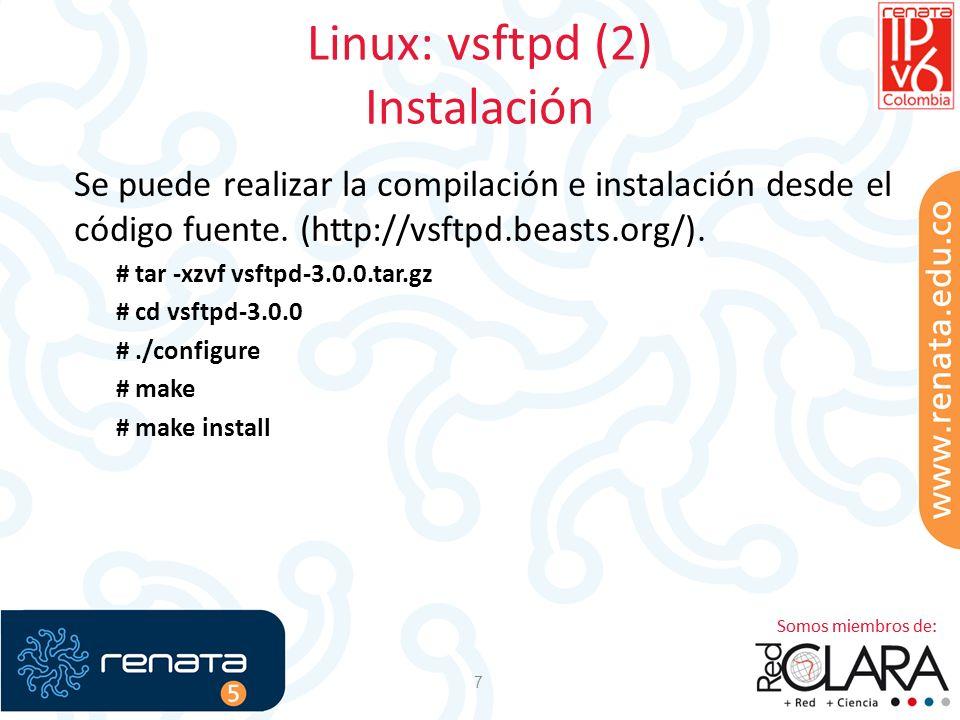 Linux: vsftpd (2) Instalación