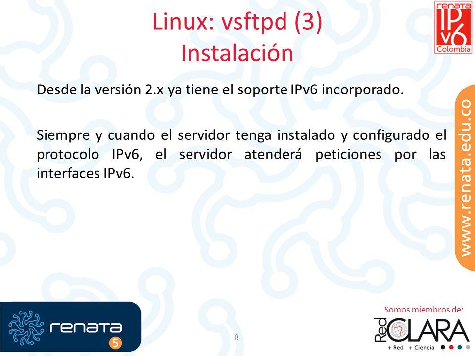 Linux: vsftpd (3) Instalación