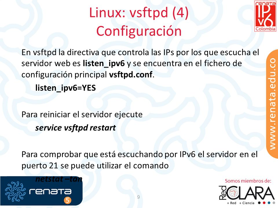 Linux: vsftpd (4) Configuración