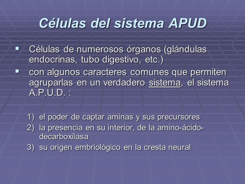 Células del sistema APUD