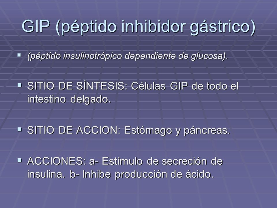 GIP (péptido inhibidor gástrico)