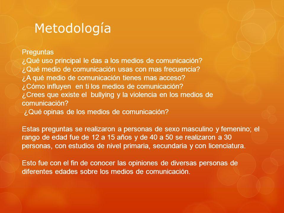 Metodología Preguntas