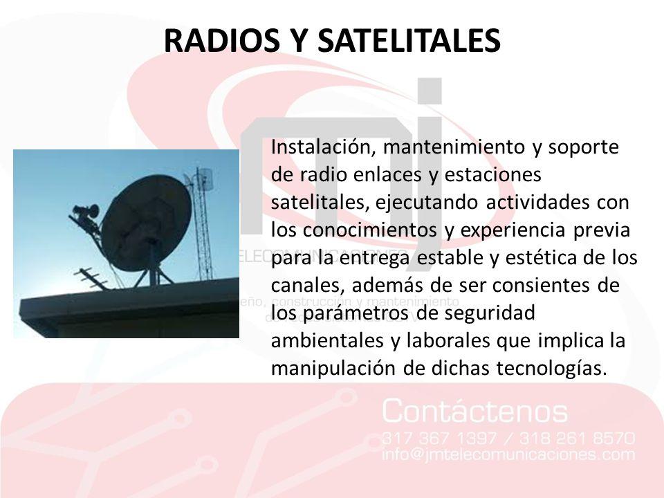 RADIOS Y SATELITALES
