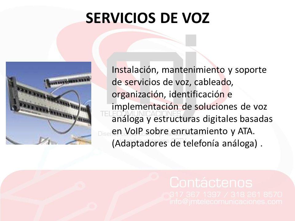 SERVICIOS DE VOZ