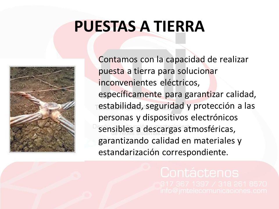 PUESTAS A TIERRA