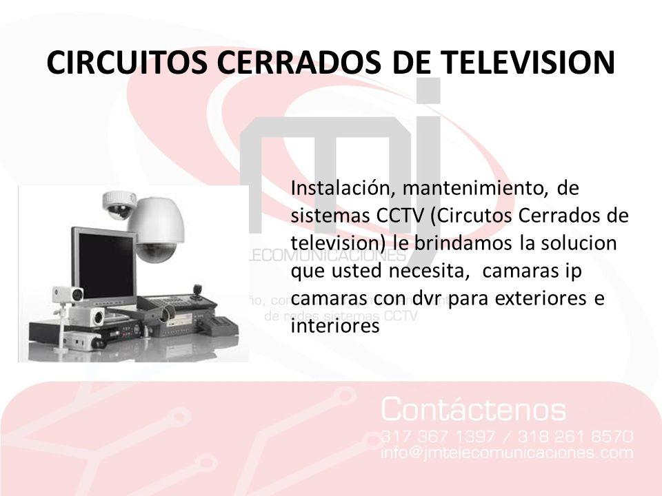 CIRCUITOS CERRADOS DE TELEVISION