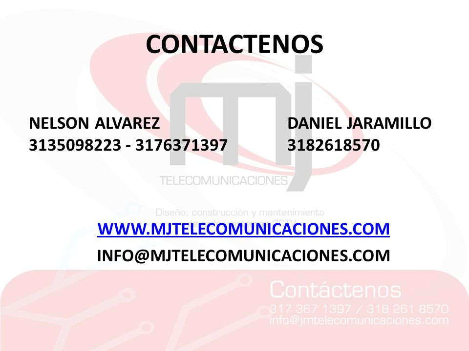 CONTACTENOS NELSON ALVAREZ 3135098223 - 3176371397 DANIEL JARAMILLO