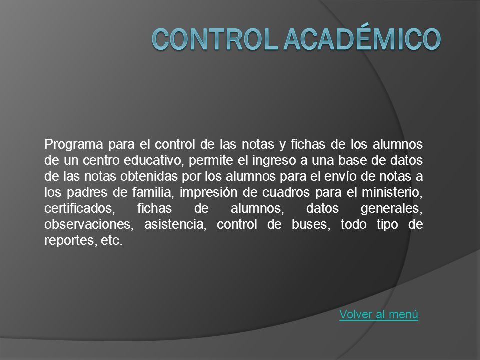 Control Académico
