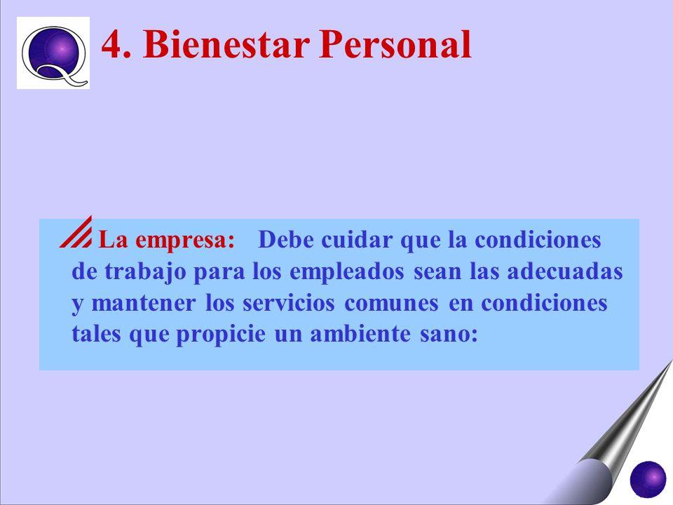 4. Bienestar Personal